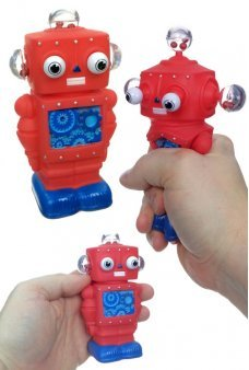 I Pop Robot Schylling Red Squeeze Toy