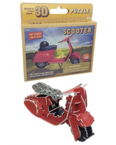 Retro Scooter Kit Windup 3D Puzzle DIY
