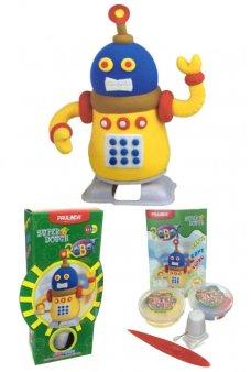 Super Dough Robot Windup Art Kit Yellow