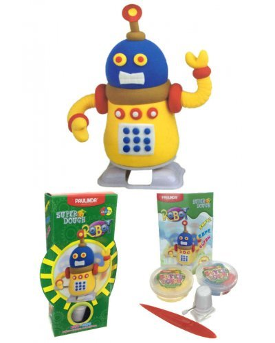 Super Dough Robot Windup Art Kit Yellow