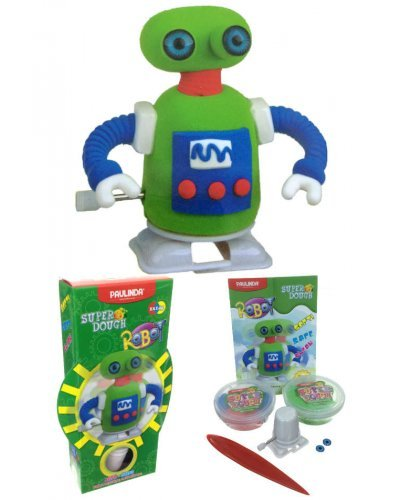 Super Dough Robot Windup Art Kit Green