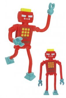 Red Bendy Robot Invaders Flexible