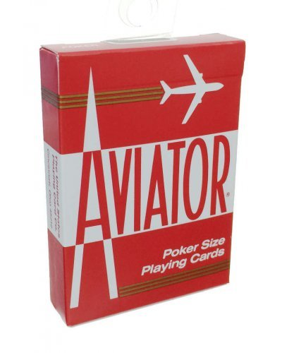 Aviator Playing Cards Red Poker Size 1929