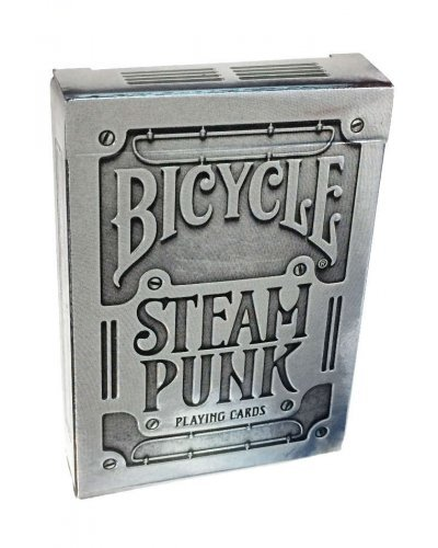 Silver Bicycle Steam Punk Playing Cards