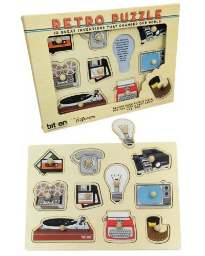 Retro Inventions Puzzle Vintage Set of 10