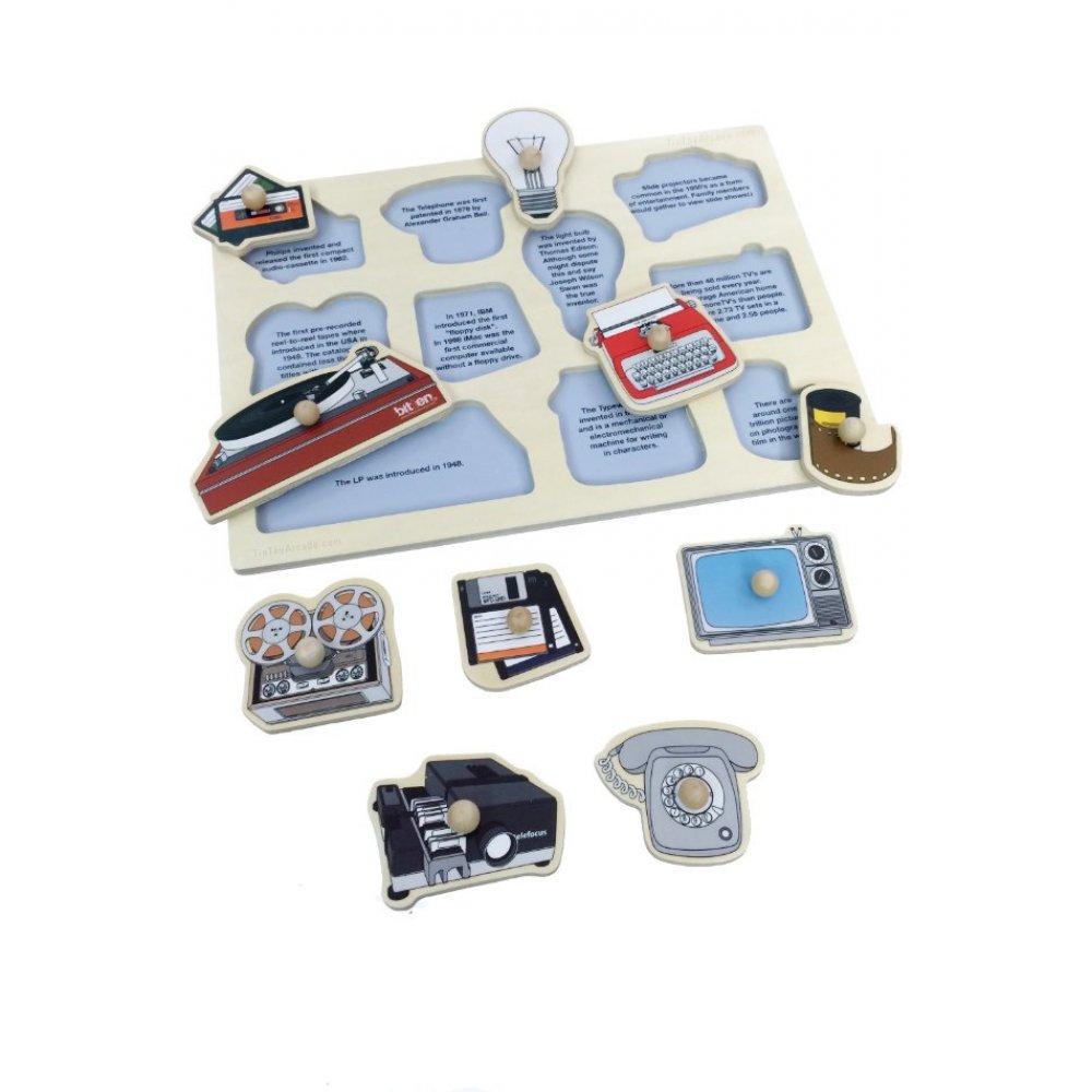 Retro Puzzle Inventions : Wooden Peg Puzzles : Nuop Design