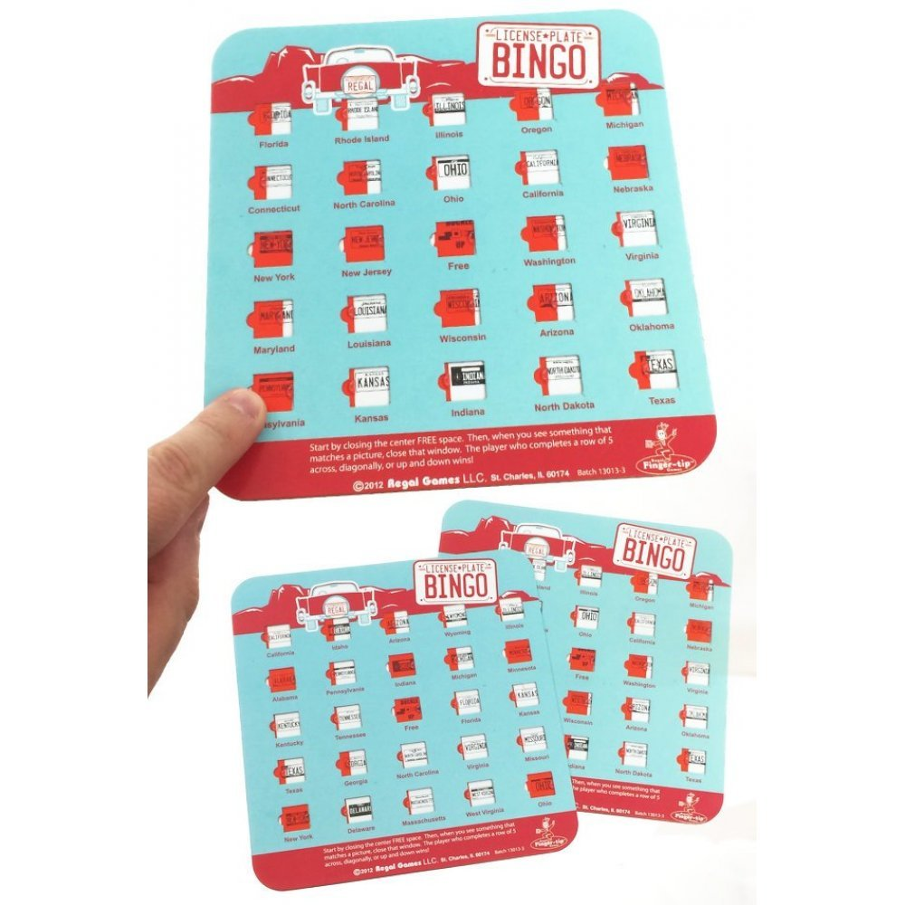This is a picture of Luscious License Plate Bingo Printable