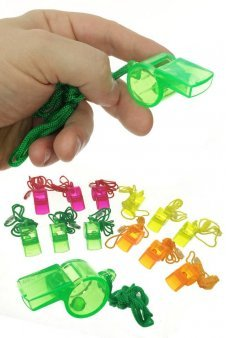 Colorful Whistles 12 Transparent Plastic