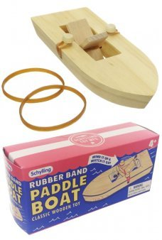 Rubber Band Paddle Boat Wood Windup