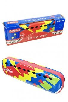 Schylling Tin Harmonica Colorful 10 Notes