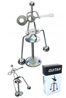 Guitar Player Silver Balancing Mini Sculpture