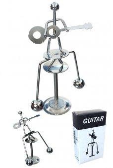 Guitar Player Silver Balancing Mini Sculpture