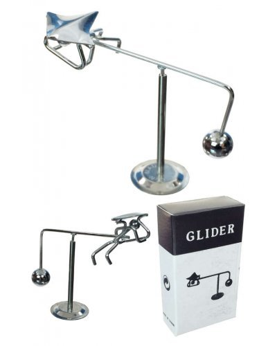 Hang Glider Silver Balancing Mini Sculpture
