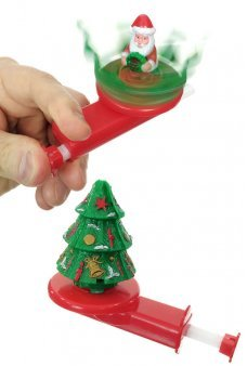 Christmas Tree Spinner Santa Inside Toy