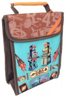 Two Robots Lunch Sack Insulated Fabric Bag