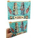 Tin Toy Robots Travel Bag with Zipper R-45
