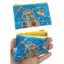 Atomic UFO Robot Coin Purse Blue Canvas