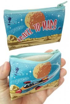 Rocket Travel to Mars Coin Purse Canvas