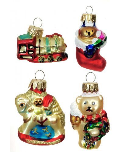 Classic Toys Glass Mini Ornaments Set of 4