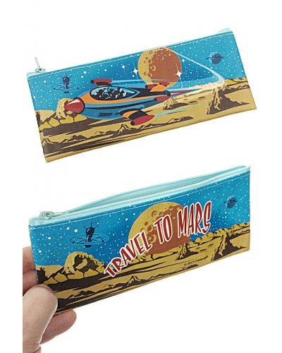 Rocket Travel to Mars Pencil and Pen Pouch