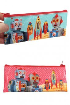 Team Retro Robots Pencil Pouch Canvas