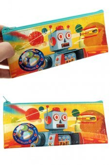 Mr D Cell Robot Pen Pencil Pouch Canvas