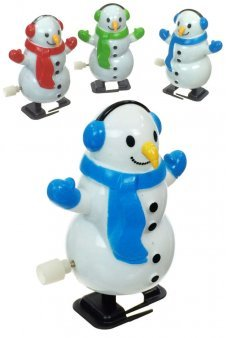 Snowman White Winter Walking Wind Up
