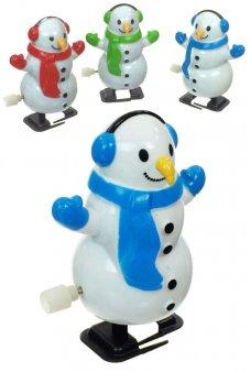 Snowman White Winter Walking Wind Up