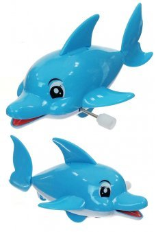 210aaceea841 Blue Dolphin Windup Rolling Large Toy