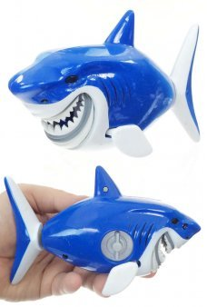 Bruce the Blue Shark Swimmer Water Windup