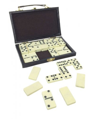Double 6 Dominoes with Portable Game Case