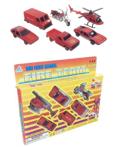 Fire Emergency Set of 6  Die Cast Vehicles