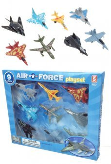 Air Force Playset of 9 Die Cast Aircraft Planes
