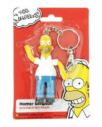 Homer Simpson Key Ring Bendable NJ Croce