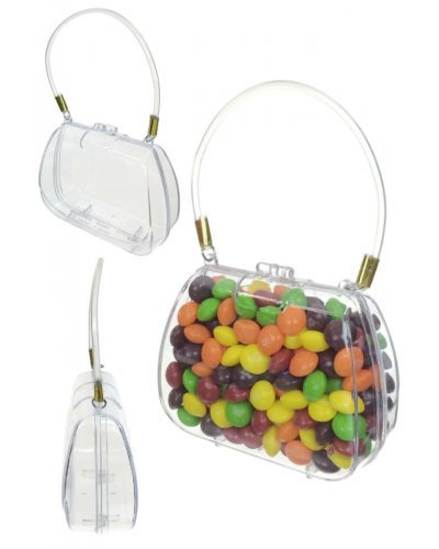 Clear Little Purse Candy Box Plastic Handbag