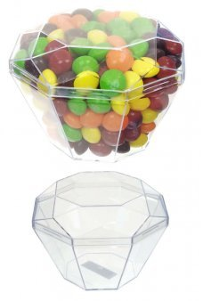 Diamond Candy Box Plastic Clear with Lid
