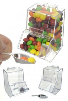 Candy Store Box Plastic Clear with Scoop