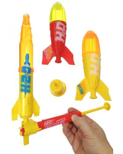 Deluxe Water Rocket Set Liqui-Fly 3 Rockets