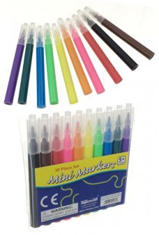 Mini Markers Small Set Portable Art 10 Colors