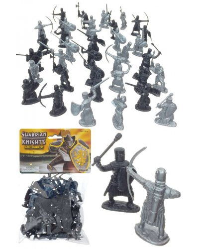 Guardian Knights Silver Black 36 Pieces Play
