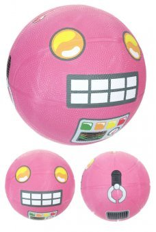 Pink Robot Basketball Playground Ball