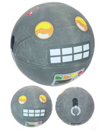 Space Grey Robot Basketball Playground Ball