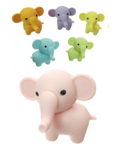 Elephant Eraser Japanese Mini Puzzle Iwako 1 Piece, Assorted Colors