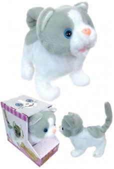 Cloud Mechanical Kitten Soft Cat White Gray