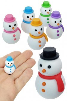 Snowman Eraser Japanese Mini Puzzle 1 Piece, Assorted Colors