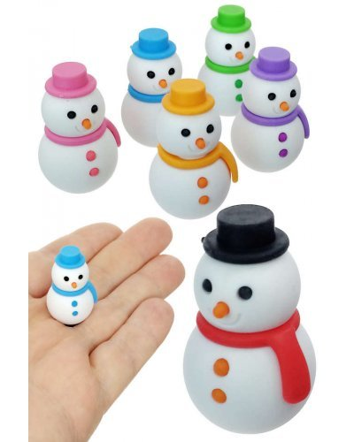 Snowman Eraser Japanese Mini Puzzle 1 Piece, Assorted Colors