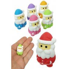 Santa Claus Eraser Japanese Mini Puzzle 1 Piece, Assorted Colors