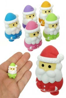 Santa Claus Eraser Japanese Mini Puzzle 1 Piece, Assorted Colors
