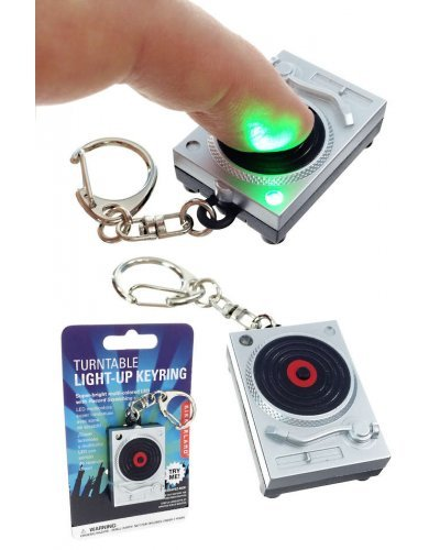 Turntable Keyring Light-up LED with Sound