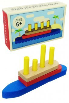 Mini Ship Puzzle Building Blocks Wooden